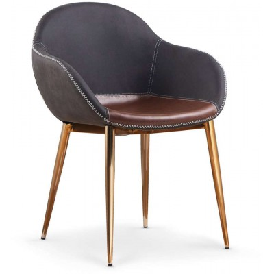 K304 krzesło ciemny popiel - brązowe Halmar