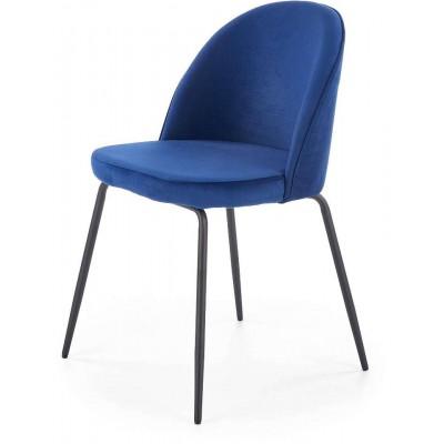 K314 granatowe krzesło Halmar