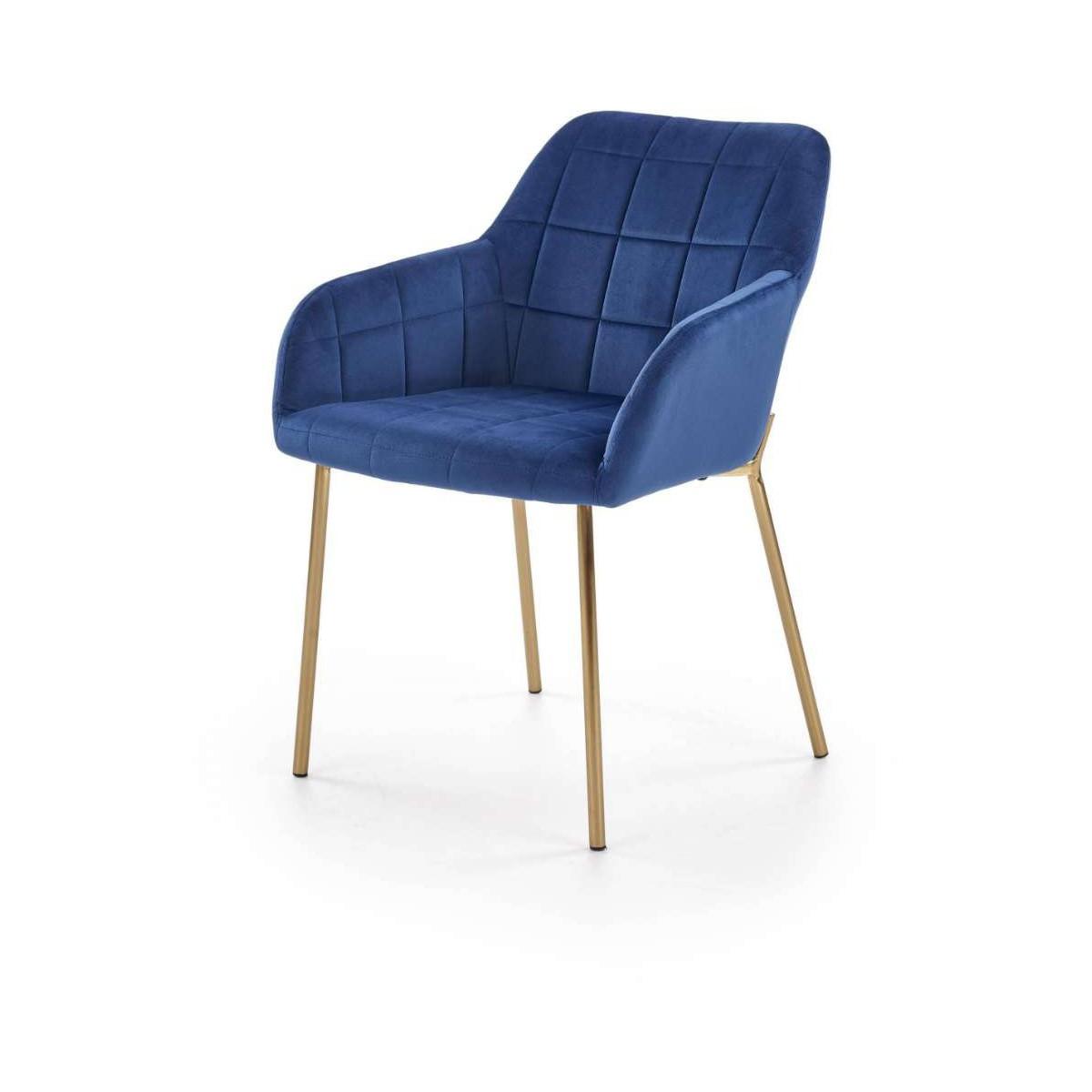K306 granatowe krzesło Halmar