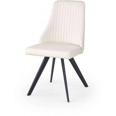 K206 krzesło białe eko skóra