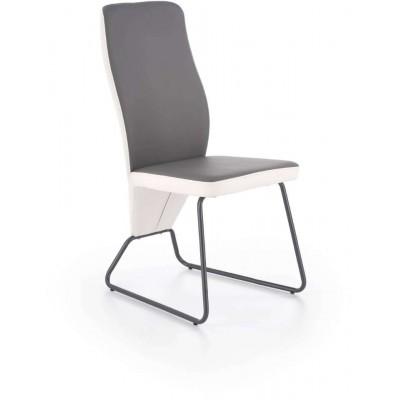 K300 krzesło biało-popielate Halmar