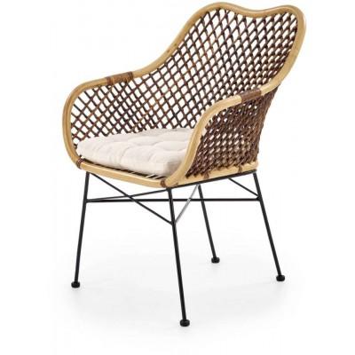 K336 krzesło rattan naturalny Halmar