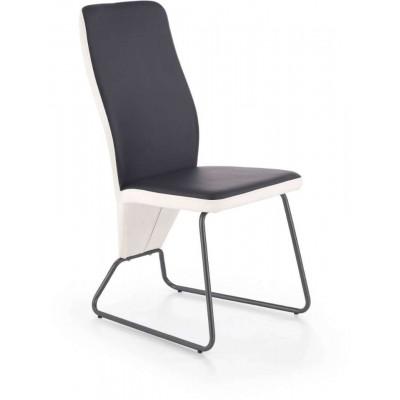 K300 krzesło biało-czarne Halmar
