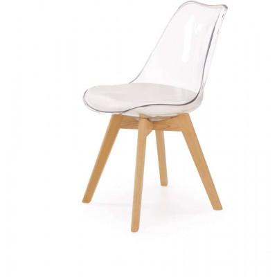 K246 krzesło oparcie transparentne Halmar