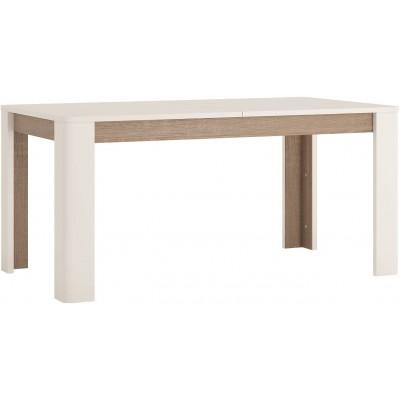 Stół rozkładany 160-200 cm x 90 cm (8 osób) Biały Połysk Linate 75 Meble Wójcik