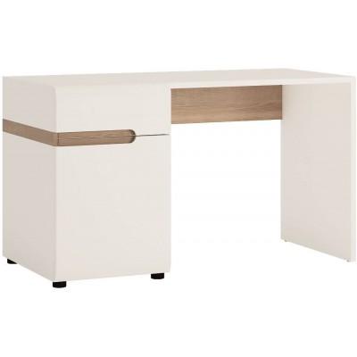 Biurko do sypialni Biały Połysk / Dąb truflowy Linate 80 Meble Wójcik