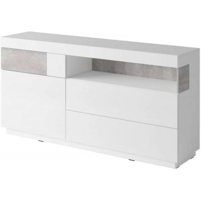 Silke Komoda Typ 47 biały połysk / beton