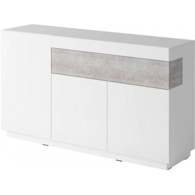 Silke Komoda Typ 43 biały połysk / beton