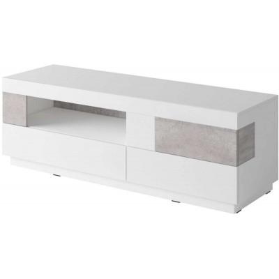 Silke komoda TV Typ 41 biały połysk / beton