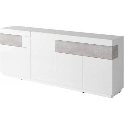 Silke Komoda Typ 25 biały połysk / beton
