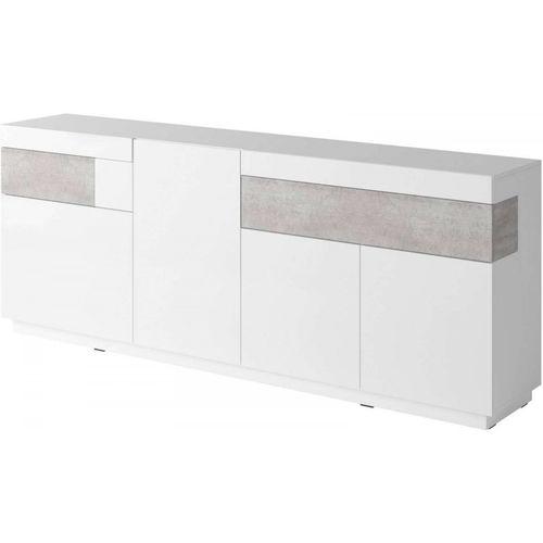 Silke Komoda 25 biały połysk / beton Helvetia Wieruszów