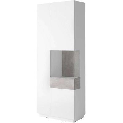 Silke Witryna prawa 13 biały połysk / beton Helvetia Wieruszów