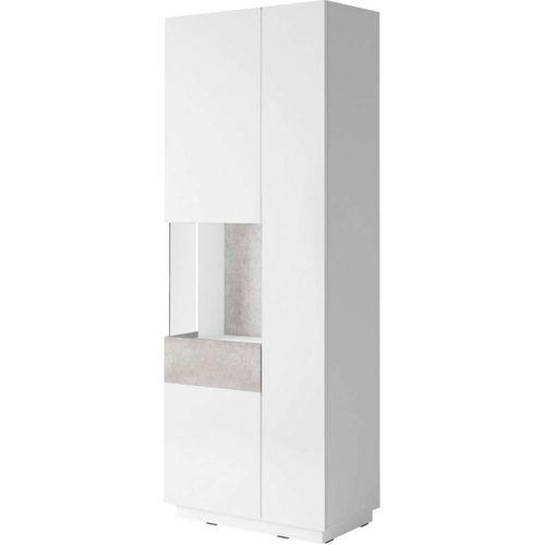 Silke Witryna 12 biały połysk / beton Helvetia Wieruszów