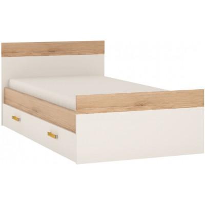 Łóżko do pokoju młodzieżowego biały alpejski / san remo Amazon 100 cm 90 Meble Wójcik