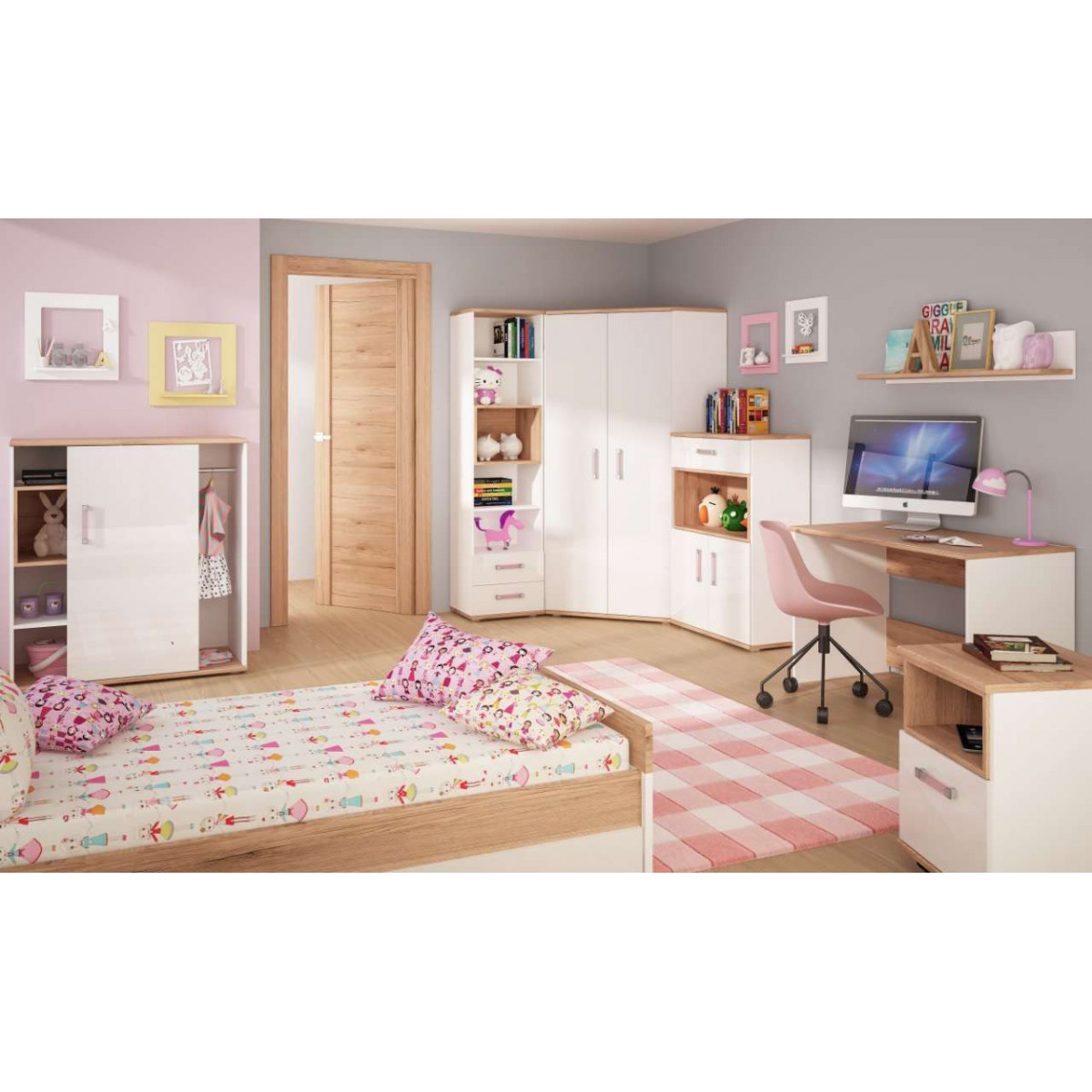 Łóżko do pokoju młodzieżowego biały alpejski / san remo Amazon 100 cm Typ 90