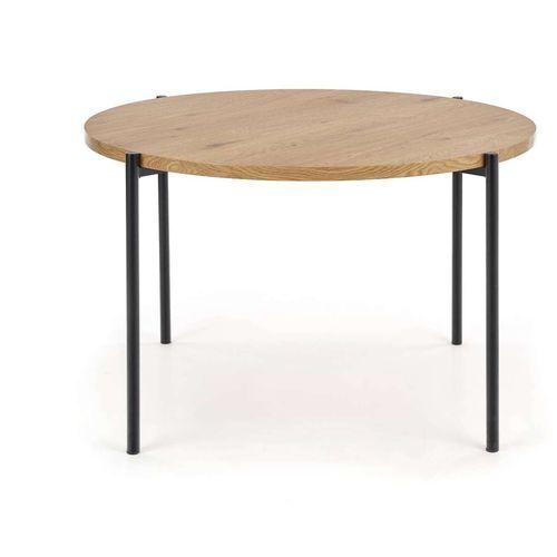 Morgan stół okragły dąb złoty / czarny Halmar