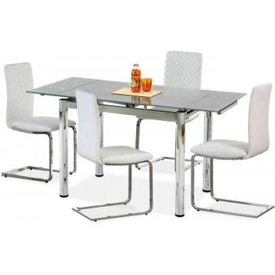 Logan 2 stół rozkładamny szklany popiel Halmar