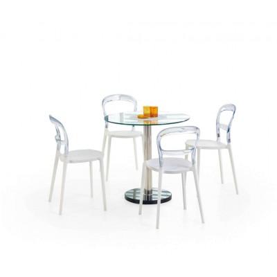 Cyryl stół okrągły bezbarwny przezroczysty