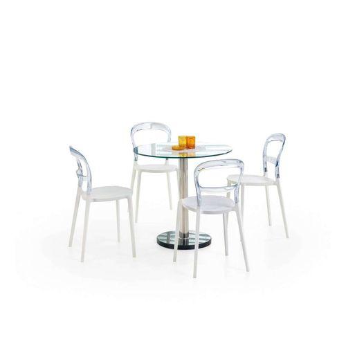 Cyryl stół okrągły bezbarwny przezroczysty Halmar