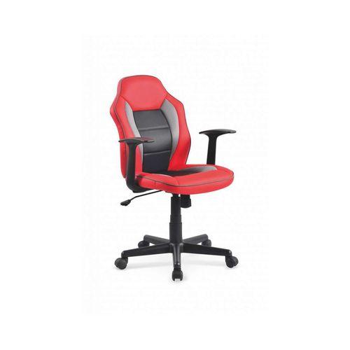 Nemo fotel młodzieżowy czerwono-czarny Halmar