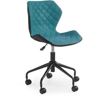Matrix fotel młodzieżowy czarny / turkusowy Halmar