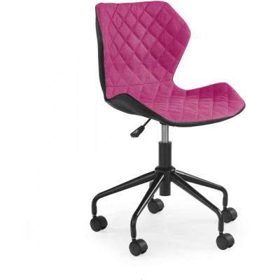 Matrix fotel młodzieżowy czarny / różowy Halmar
