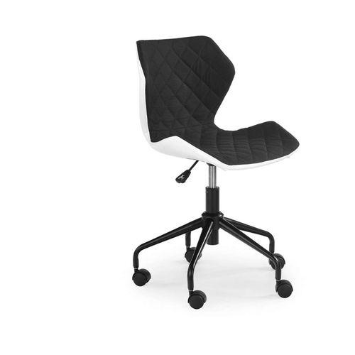 Matrix fotel młodzieżowy biały/czarny Halmar