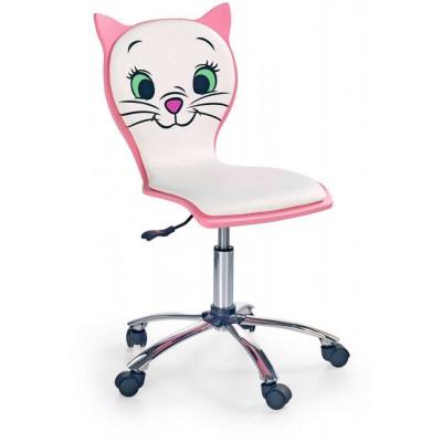 Kitty 2 fotel dziecięcy kotek biało-różowy