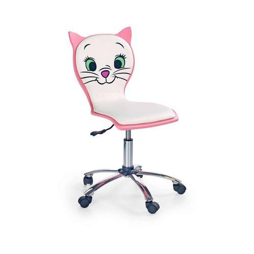 Kitty 2 fotel dziecięcy kotek biało-różowy Halmar