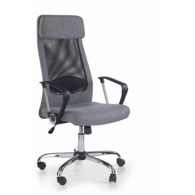 Zoom fotel biurowy tkanina popielaty Halmar