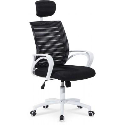 Socket fotel biurowy biało-czarny Halmar