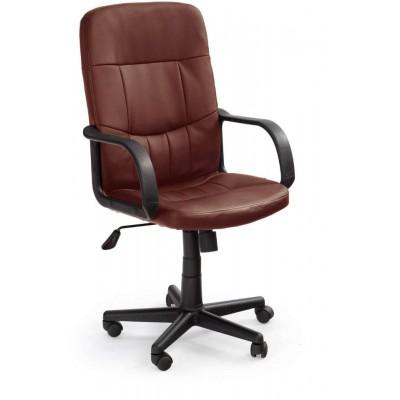 Denzel klasyczny ciemno brązowy fotel biurowy Halmar