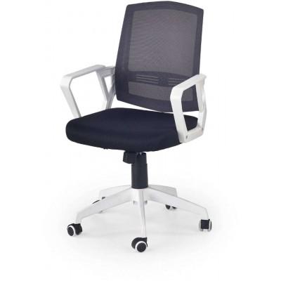 Ascot fotel biurowy czarno-popielaty-biały Halmar