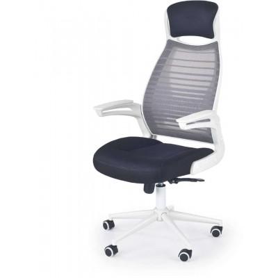 Franklin fotel biurowy czarno-popielaty-biały Halmar