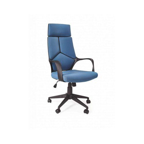 Voyager fotel biurowy czarny / niebieski Halmar