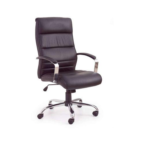 Teksas fotel biurowy czarny - skóra Halmar