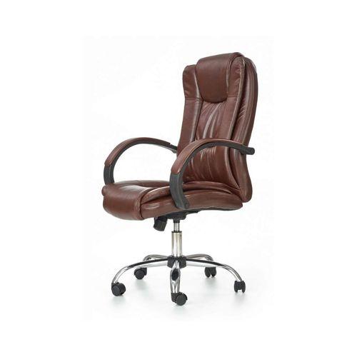 Relax fotel biurowy ciemny brąz Halmar
