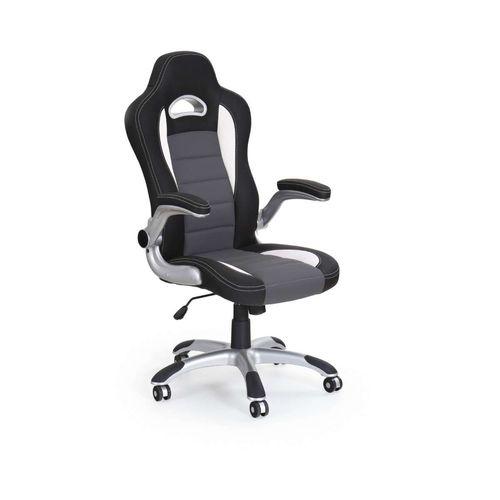 Lotus fotel biurowy czarno-popielaty Halmar
