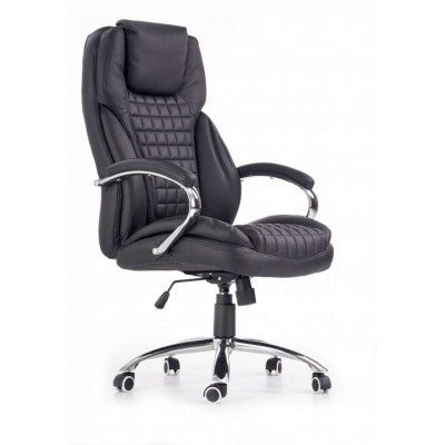 King fotel biurowy czarny Halmar