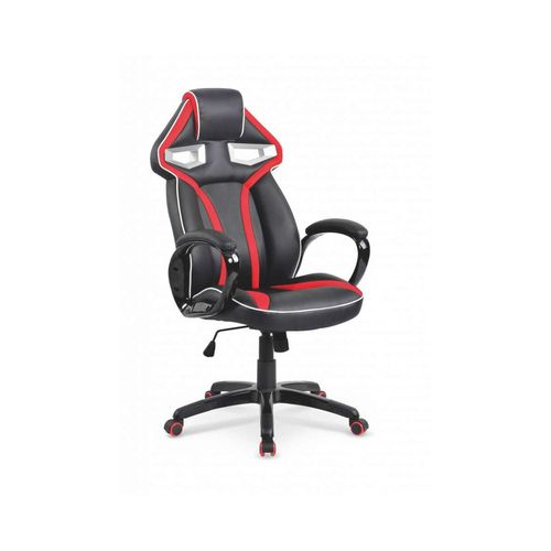 Honor fotel biurowy czarno-czerwony Halmar