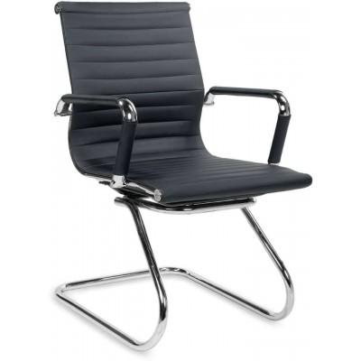 Prestige skid fotel biurowy czarny Halmar