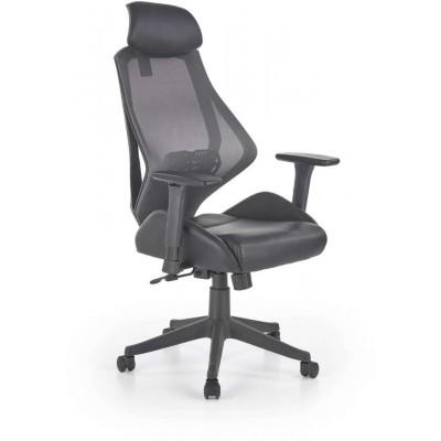Hasel fotel biurowy czarny / popiel Halmar