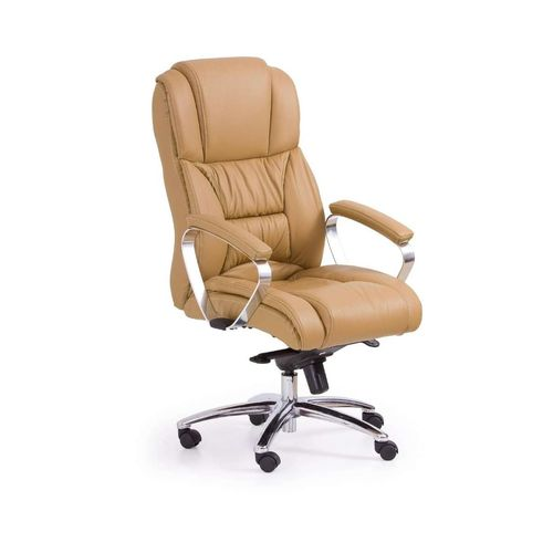Foster fotel biurowy jasny brąz - skóra Halmar