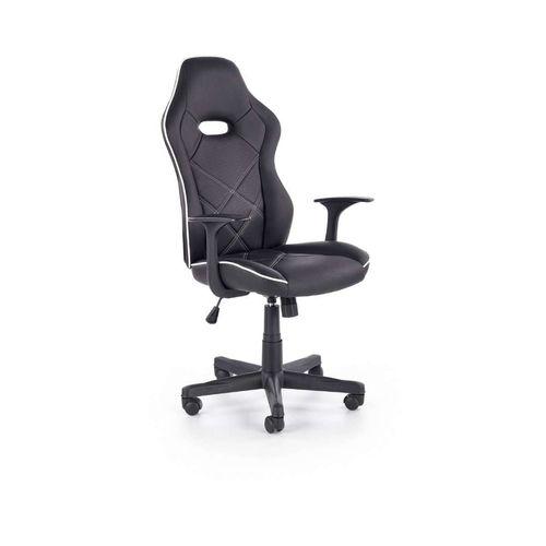 Rambler fotel biurowy czarny / biały Halmar