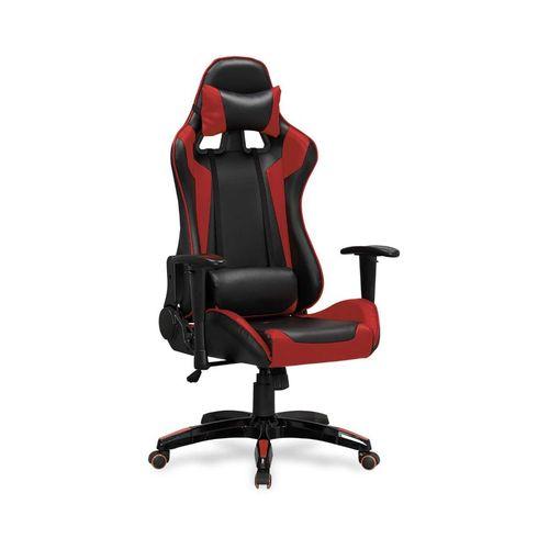 Defender fotel biurowy czarno-czerwony Halmar