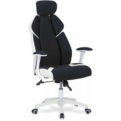 Chrono fotel biurowy biało-czarny Halmar