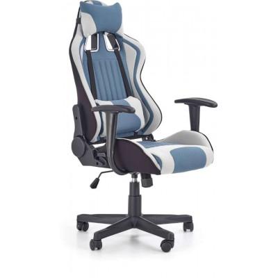 Cayman fotel biurowy jasny popiel-turkusowy Halmar