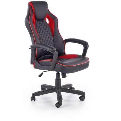 Baffin fotel biurowy czarny / czerwony Halmar