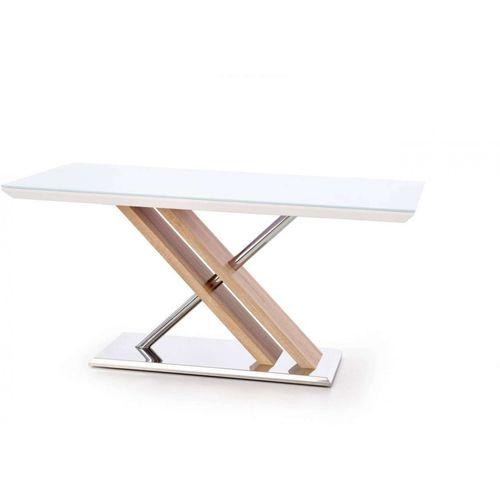 Nexus stół ekstra biały / dąb sonoma Halmar