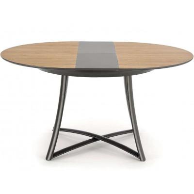 Moretti stół rozkładany dąb naturalny popielaty nogi antracyt Halmar